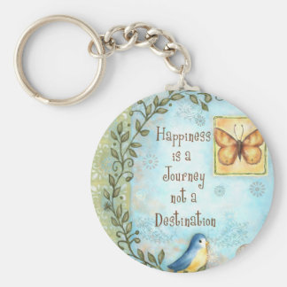 Happiness is a Journey Basic Round Button Key Ring