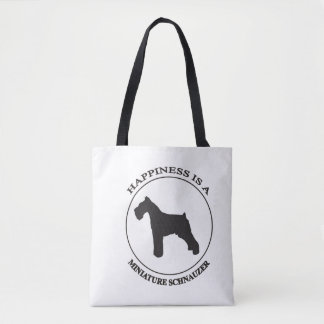 Happiness is a Miniture Schnauzer Tote Bag