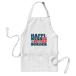 Happiness is a Secure Border Standard Apron