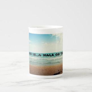 Happiness is a walk n the beach bone china mug