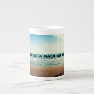 Happiness is a walk n the beach tea cup