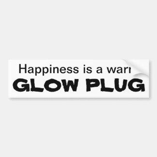 Happiness is a warm GLOW PLUG Car Bumper Sticker