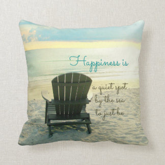 Happiness Is Adirondack Chair Beach Pillow