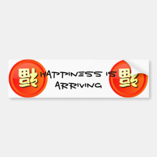 Happiness Is Arriving in Chinese Bumper Stickers