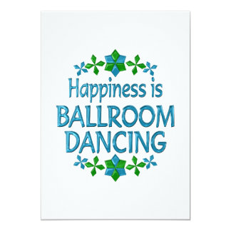 Happiness is Ballroom Dancing Personalized Announcement