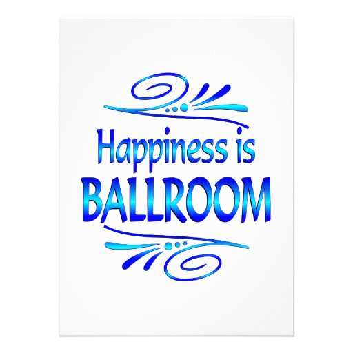 Happiness is BALLROOM Personalized Announcement