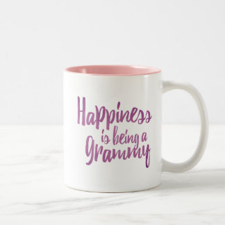 Happiness is being a Grammy Two-Tone Coffee Mug