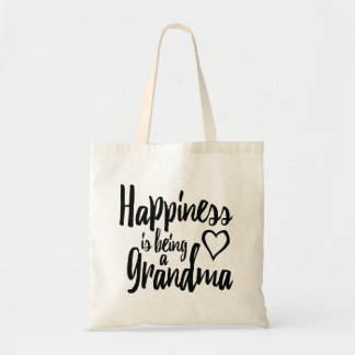 Happiness Is Being A Grandma Heart Tote Bag