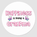 Happiness Is Being A Grandma Round Sticker