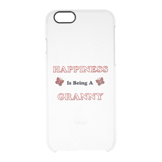 Happiness Is Being A Granny Clear iPhone 6/6S Case