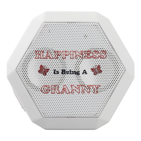 Happiness Is Being A Granny White Bluetooth Speaker