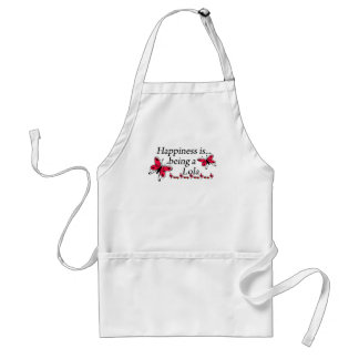 Happiness Is Being A Lola BUTTERFLY Adult Apron