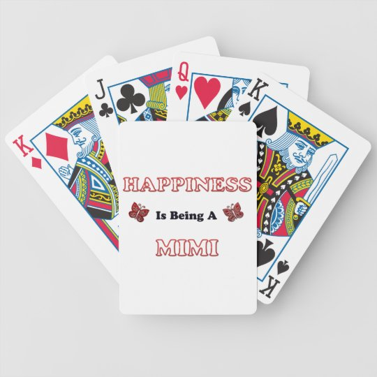 Happiness Is Being A Mimi Bicycle Playing Cards