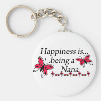 Happiness Is Being A Nana BUTTERFLY Key Chains