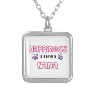 Happiness Is Being A Nana Silver Plated Necklace