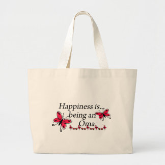 Happiness Is Being A Oma BUTTERFLY Large Tote Bag