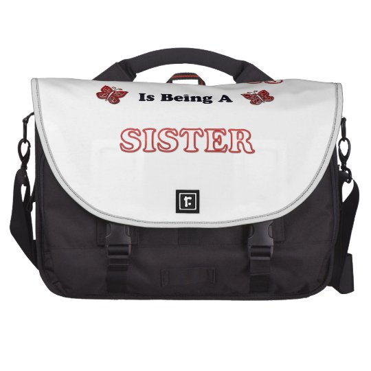 Happiness Is Being A Sister Laptop Commuter Bag