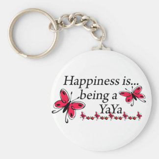 Happiness Is Being A YaYa BUTTERFLY Key Ring
