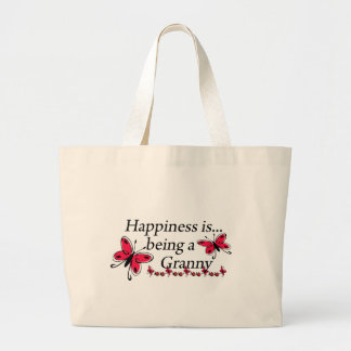 Happiness Is Being An Granny BUTTERFLY Jumbo Tote Bag