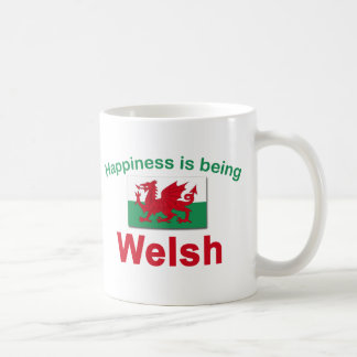 Happiness is Being Welsh Basic White Mug
