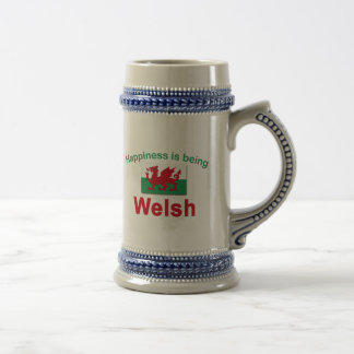 Happiness is Being Welsh Beer Steins