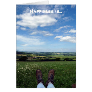 """""""Happiness is..."""" Card"""