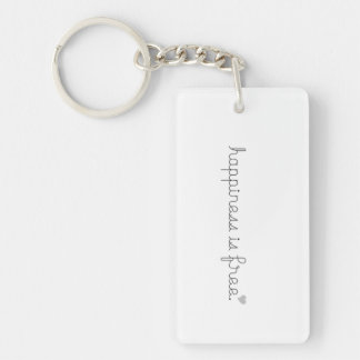 Happiness is free key chain