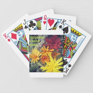 Happiness is handmade wooden flowers poker deck