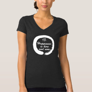 Happiness is Here and Now Zen Women's T-Shirt Dark