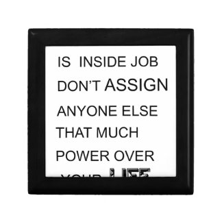 happiness is in inside job don't assign anyone  el small square gift box