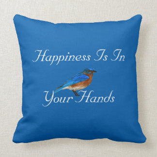 Happiness Is In Your Hands Throw Pillow