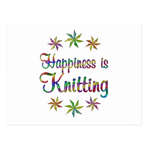 Happiness is Knitting Postcards