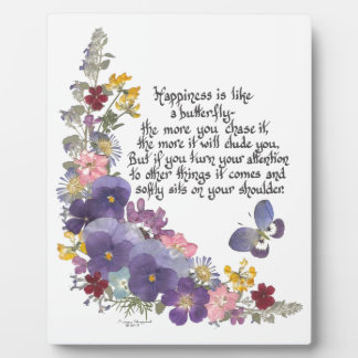Happiness is like a butterfly plaque