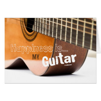 Happiness is My Guitar Greeting Card