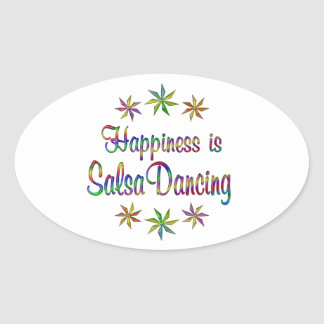 Happiness is Salsa Dancing Oval Sticker
