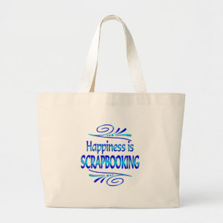 Happiness is SCRAPBOOKING Large Tote Bag
