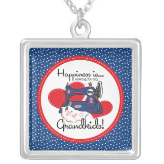 Happiness Is Sewing Necklace