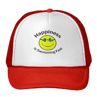 Happiness is Swimming Fast Cap