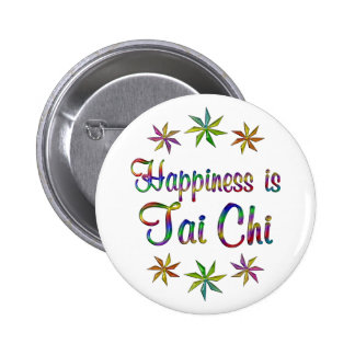 Happiness is Tai Chi 6 Cm Round Badge