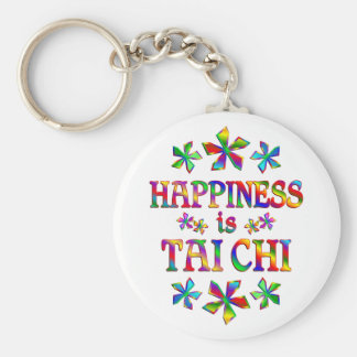Happiness is Tai Chi Basic Round Button Key Ring