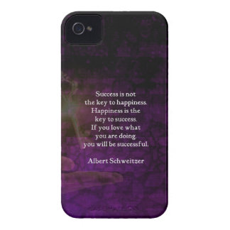 Happiness Is The Key To Success Uplifting Quote iPhone 4 Case