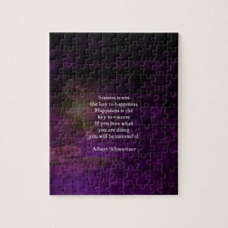 Happiness Is The Key To Success Uplifting Quote Jigsaw Puzzle