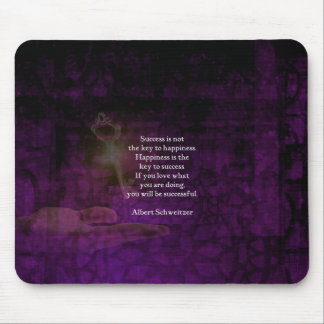 Happiness Is The Key To Success Uplifting Quote Mouse Pad
