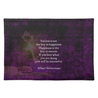 Happiness Is The Key To Success Uplifting Quote Placemat