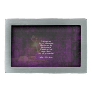 Happiness Is The Key To Success Uplifting Quote Rectangular Belt Buckle