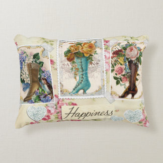Happiness is Victorian Steampunk Boots Pillow Accent Cushion