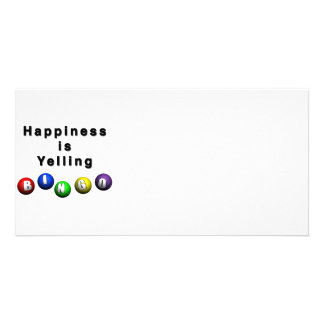 Happiness Is Yelling BINGO Customized Photo Card