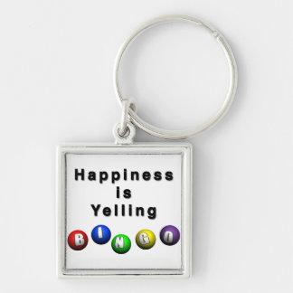 Happiness Is Yelling BINGO Key Chains