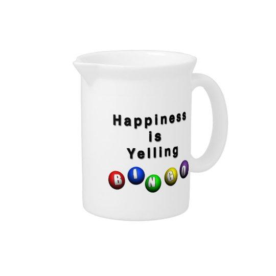 Happiness Is Yelling BINGO Pitcher