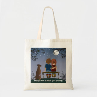 Happiness Keeps You Sweet! Canvas Tote